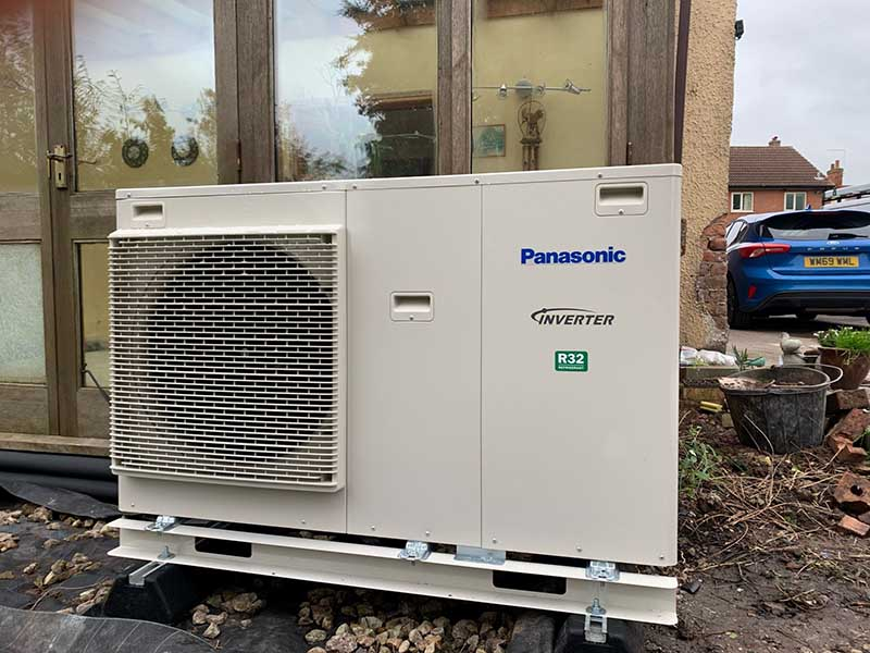 Panasonic Inverter Air Source Heating Pump Lincoln